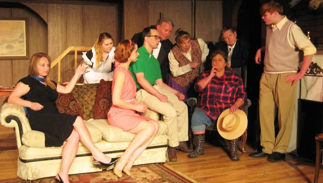 Twin Lakes Playhouse opens 'Out of Sight, Out of Mind' this weekend. The cast includes, seated, from left, Angie Cotter, Olivia Wolfe, Andrew McCormick and Karen McKaig. Standing, Aubriana Chambers, Bill Simpson, Patty Kotlicky, Clark Middleton and Julien Noice.