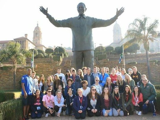 Katrina Binder of Rutherford attended the International Youth Gathering in South Africa last year. The group went to Robben Island to the prison that held Nelson Mandela, now a UNESCO World Heritage Site.
