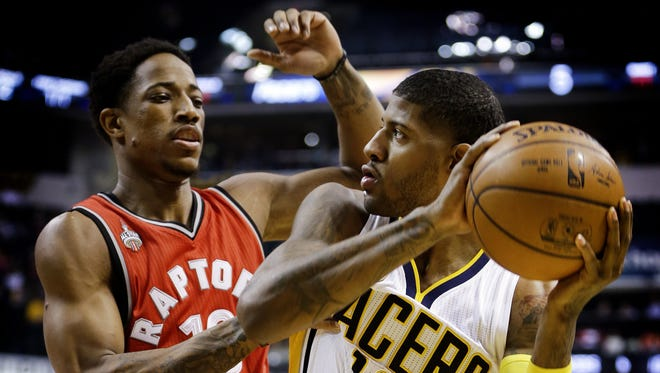 Paul George and the Pacers may be seeing a lot of Demar DeRozan and the Raptors soon.
