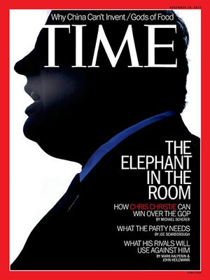 'Time' magazine's post-election cover about New Jersey Gov. Chris Christie.