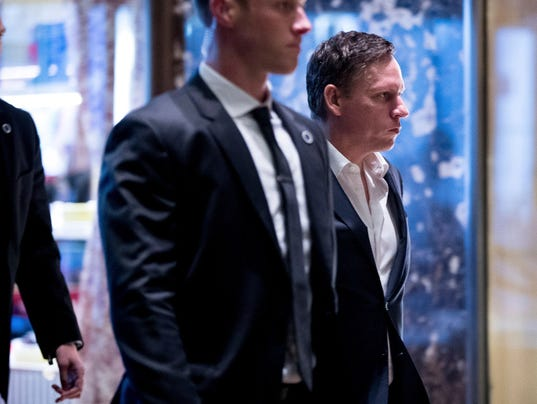Peter Thiel to tap two for Trump transition