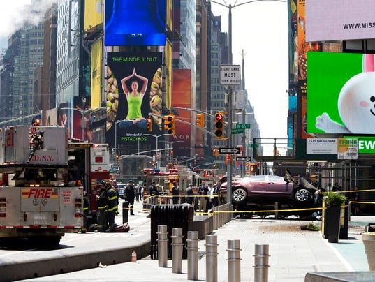 Times Square crash scene