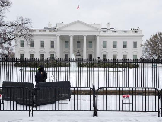 White House Fence Jumper Rattled Door Handle Roamed