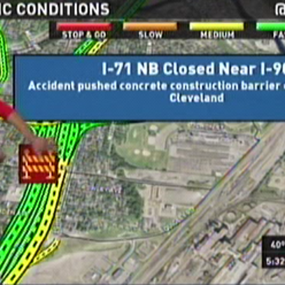 I-71 North closed near I-90 in downtown Cleveland due