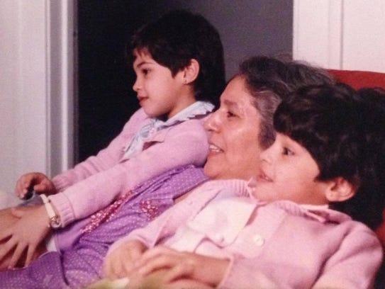 Nicole Martinez-LaGrande (far right) with her grandmother