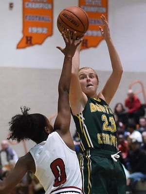 Benton Central junior Emma Fisher has led the Bison to an 18-6 record. The Bison try to win a sectional title for the eighth time since 2006.
