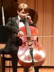 Young cellist Andrew Bailey is performing as part of