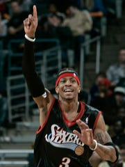 76ers guard Allen Iverson dropped 54 points vs. the