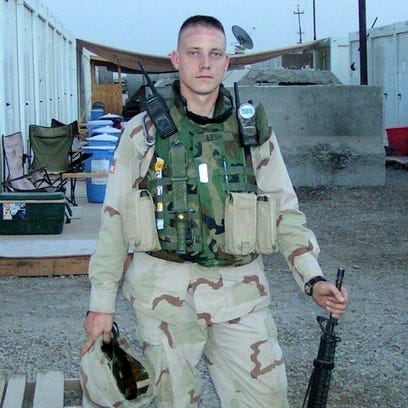 Army Sgt. Brian Lesh, who sustained combat injuries