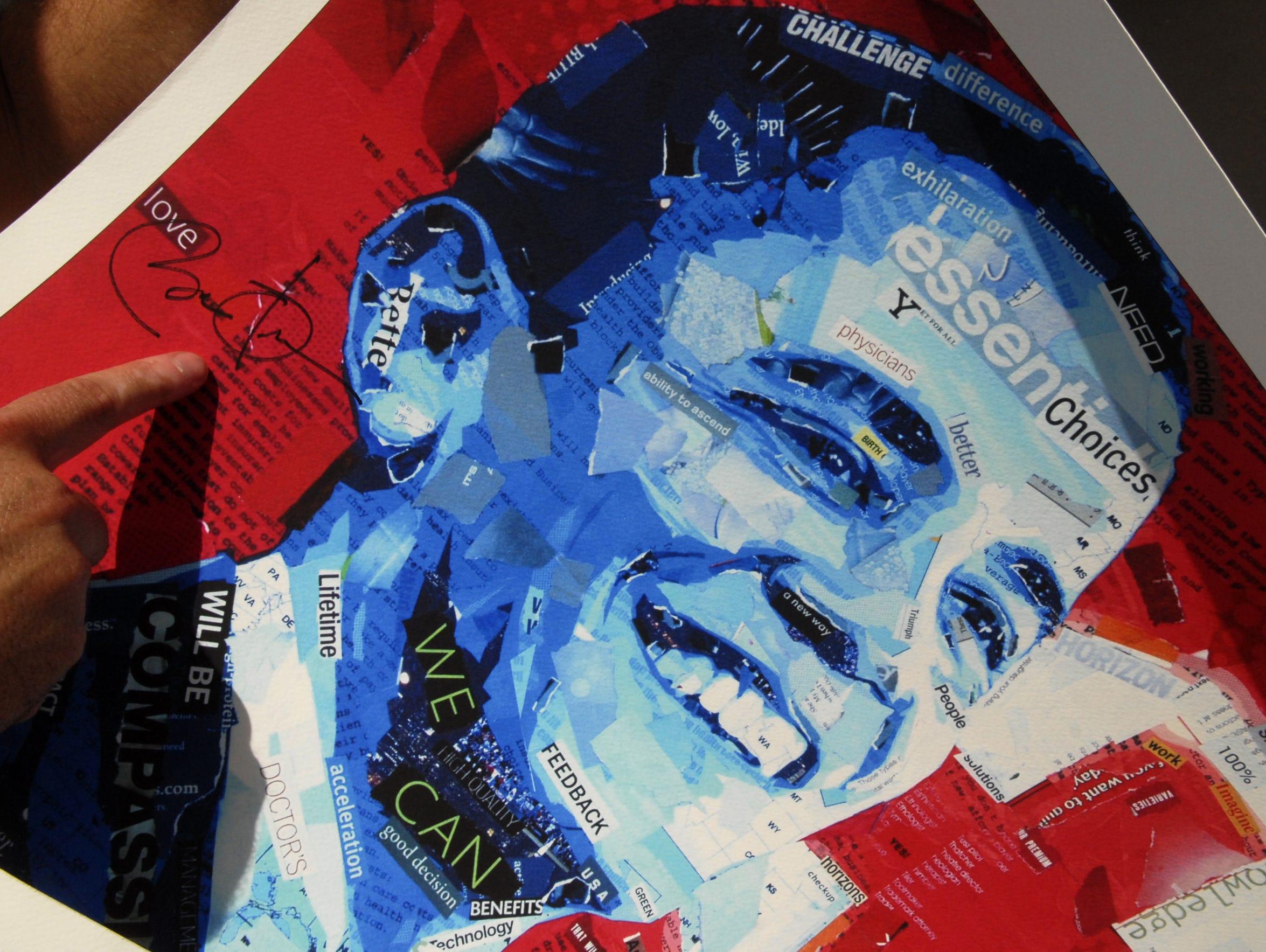 President Barack Obama signed this Derek Gores 2009