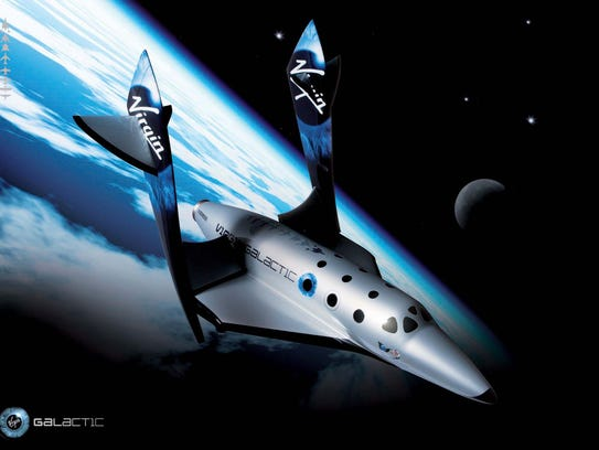 This undated image provided by Virgin Galactic shows