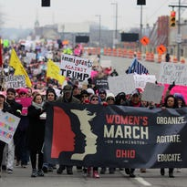 Women march for solidarity, human rights