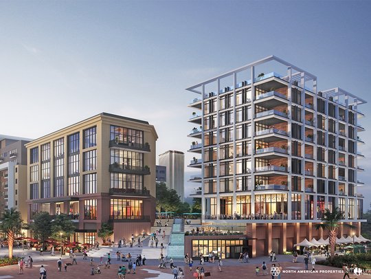 Rendering of the proposed Cascades Project hugging