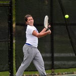Havre's Tatiana Ralph makes a forehand return during her match Friday in the at the Great Falls Invitational.