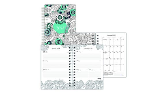 Destress while you plan by adding color to your planner.