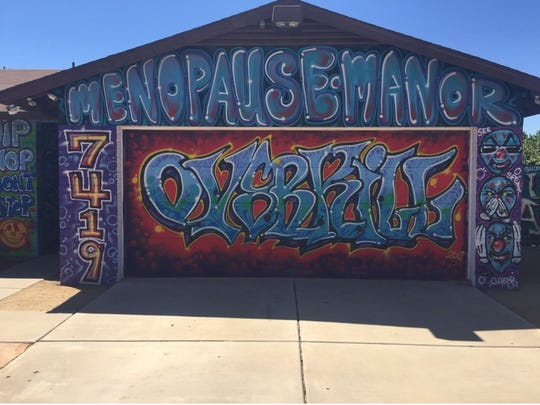Early this year Ernie Leas painted his Peoria house with graffiti, inspired by the murals along 16th Street in Phoenix. A city ordinance regulating signage forced Leas to repaint to home.