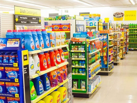 An example of a Dollar General aisle.