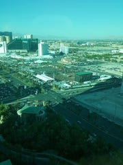 A view from Mandalay Bay of the concert venue where