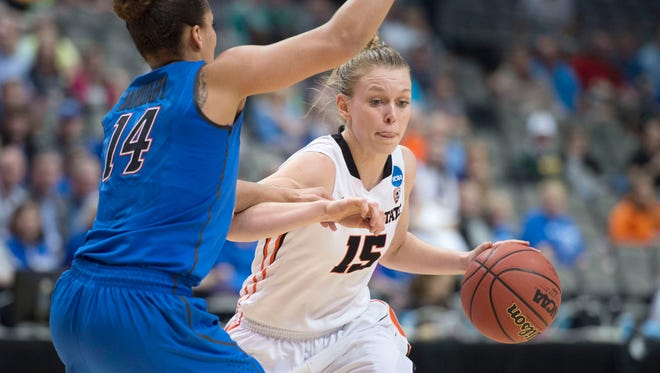 Oregon State guard Jamie Weisner was selected by the Connecticut Sun in the second round of the WNBA draft.