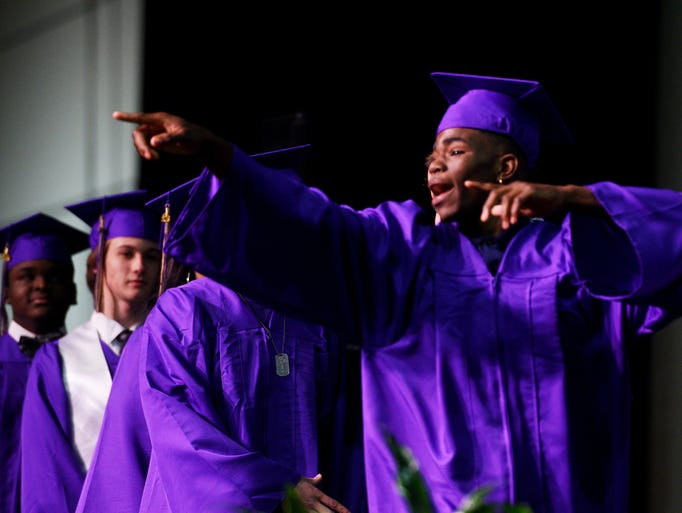 Byrd High School graduation Saturday afternoon at the