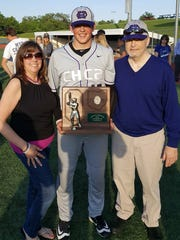 CHCA senior Griffan Smith with his mom, Joyce, and