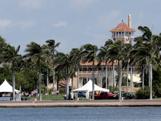 Donald Trump's Mar-a-Lago resort in Palm Beach, Fla.,