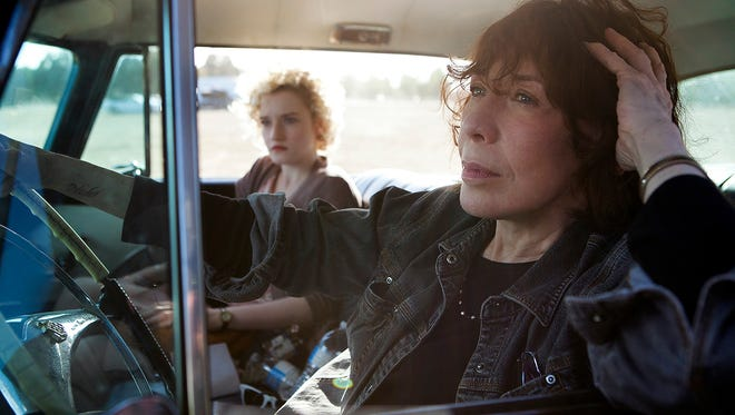 Lily Tomlin and Julia Garner star in 'Grandma,' a comedy that is screening at the Sundance Film Festival.