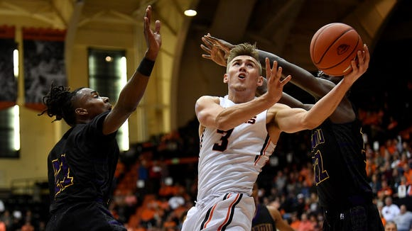 Oregon State forward Tres Tinkle, who is second in the Pac-12 in scoring, is out indefinitely with a wrist injury.