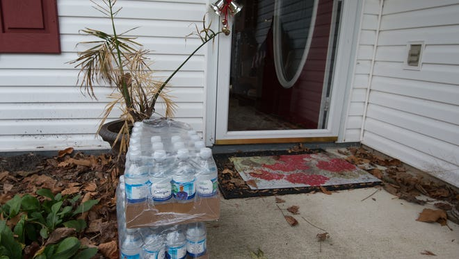 Mountaire Farms had drinking water and a water cooler delivered to the home of Bob and Jean Phillips in Millsboro after high levels of nitrates were found in their well.