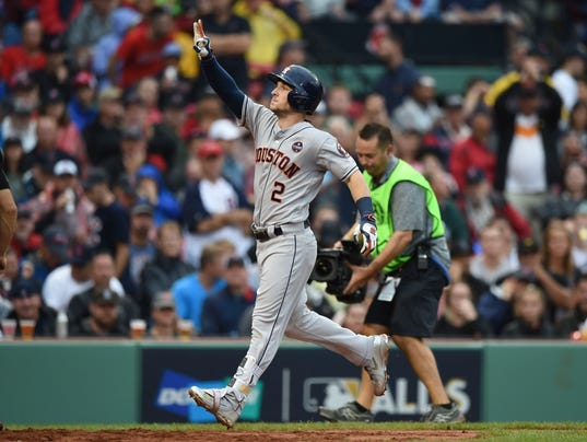 USP MLB: ALDS-HOUSTON ASTROS AT BOSTON RED SOX S BBA BOS HOU USA MA