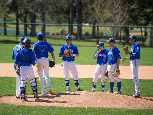 Mercersburg Academy's baseball team gathers before