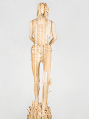 Sculpture #3 by Gary Mellon, made with wood and paint.