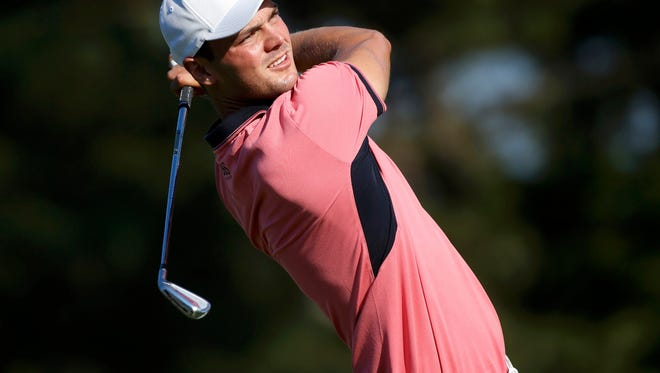 Martin Kaymer of Germany watches his shot on the 13th hole during the third round of the U.S. Open in Pinehurst, North Carolina, on Saturday.