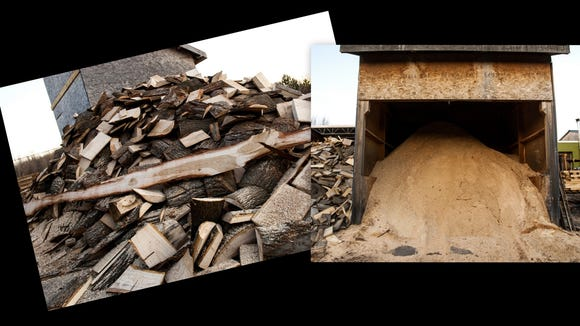 No waste. Slab wood is sold for firewood and sawdust is sold to hose stables.