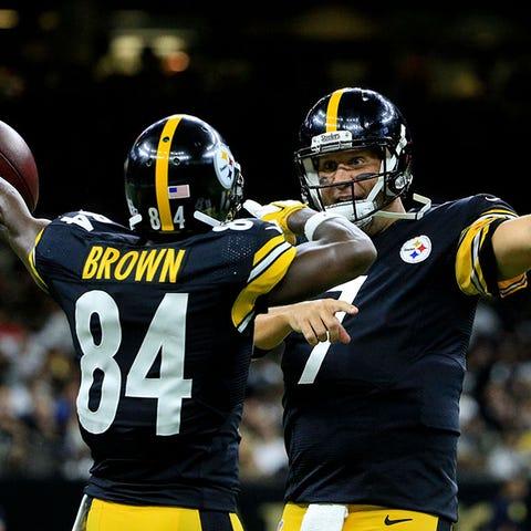 Steelers WR Antonio Brown said that QB Ben...