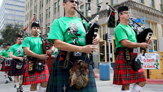 The Water 's Edge Pipe and Drums will perform at the sixth annual Cassidy's Irish Pub St. Patrick's Day Festival in Corpus Christi on Friday and Saturday..