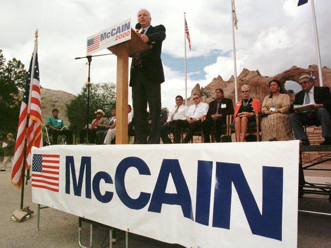 Then-Republican presidential hopeful Sen. John McCain,