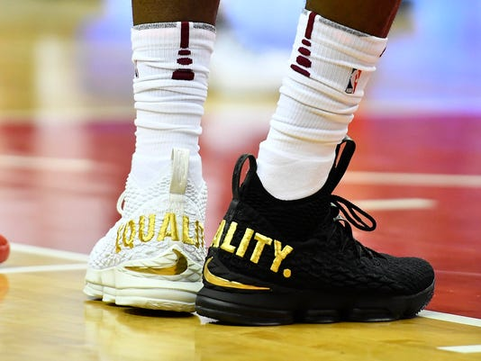 sports shoes 7a3eb 13bcf LeBron James makes statement with 'Equality' sneakers worn ...