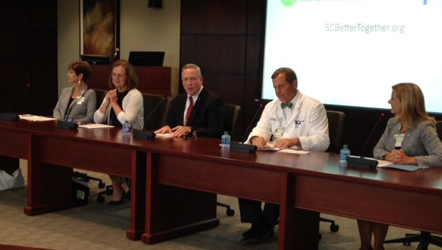 Greenville Health System is joining forces with Palmetto Health in Columbia, creating the largest health system in South Carolina, officials said Thursday.