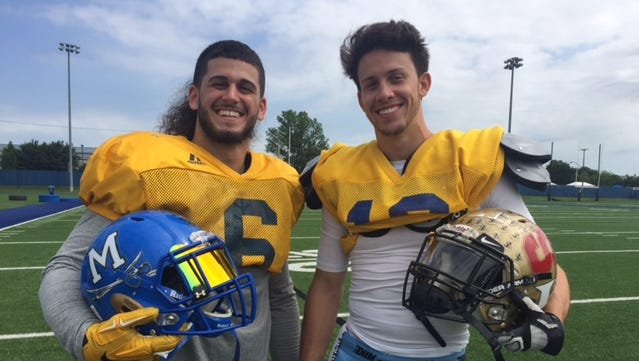 First cousins Anthony Delpercio from Middletown and Andrew Delpercio from rival Newark are Gold teammates for Saturday's all-star game.