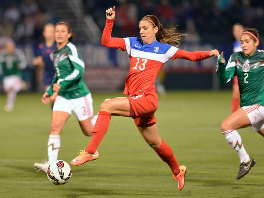 US women's soccer team defeats Mexico in final World Cup qualifying tuneup