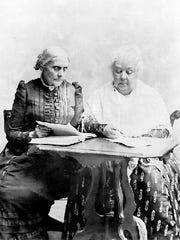 Susan B. Anthony, left, and Elizabeth Cady Stanton.
