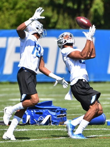 Lions receiver Chris Lacy pulls in an over-the-shoulder
