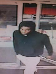 The suspect in the overnight convenience store robbery.