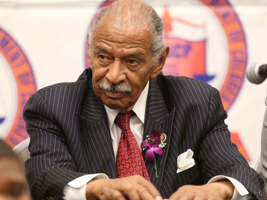Congressman John Conyers Jr. answered questions from