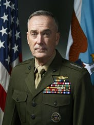 Marine Corps Gen. Joseph F. Dunford Jr., chairman of the Joint Chiefs of Staff, will be the commencement speaker at the U.S. Military Academy's graduation at West Point on May 26.