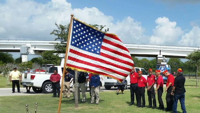The Veterans Band of Corpus Christi retired 21 flags during their 3rd annual flag retirement ceremony, which is held on Flag Day every year.
