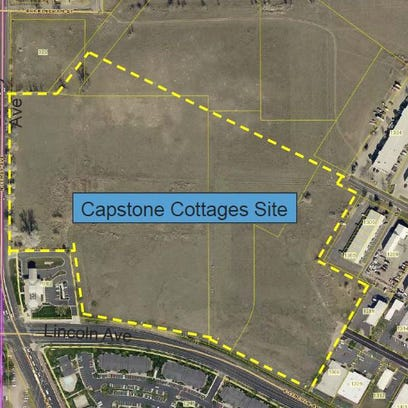 The proposed Capstone Cottages student-housing development