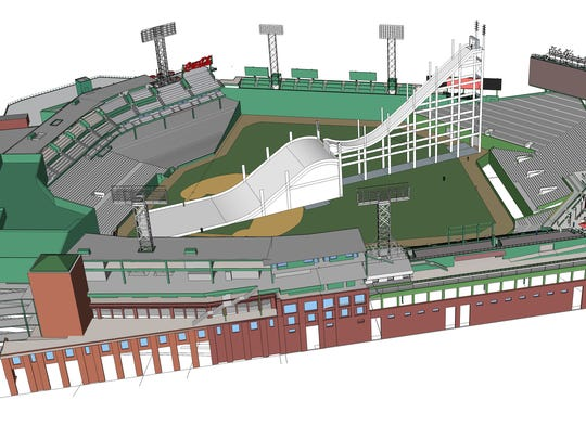 An artist rendering of Fenway Park for the big air