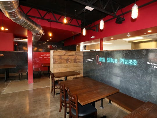 The dining area has a bit of an industrail feel at 9th Slice Pizza Co. that opened Nov. 6 at 5620 S. 108th St. in the former Kmart shopping center in Hales Corners.